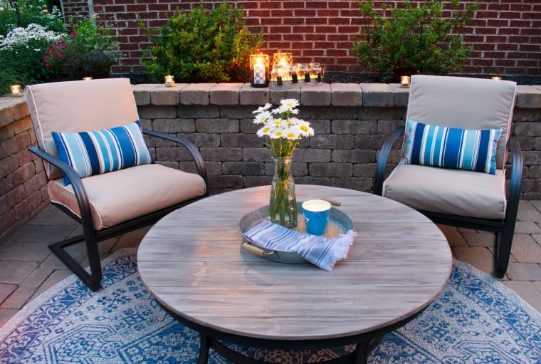 Outdoor patio update on a budget.