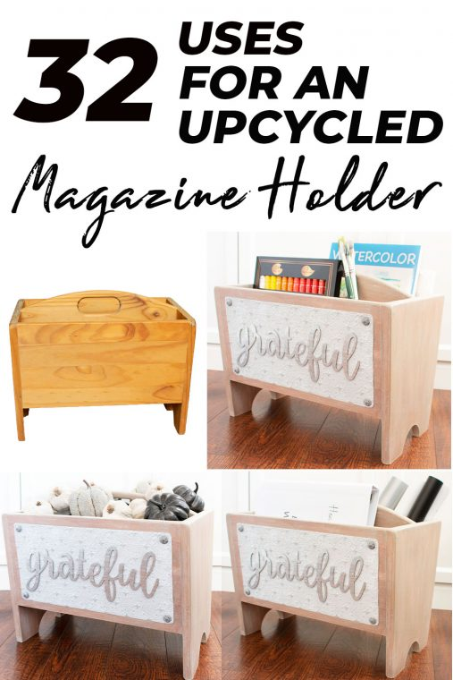 Different ways to use a re-purposed magazine holder.