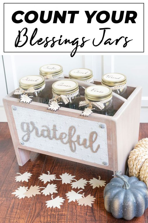 Count your blessings jars for Thanksgiving
