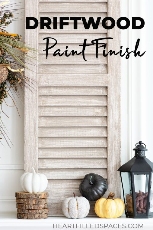 Paint technique for coastal shutters.