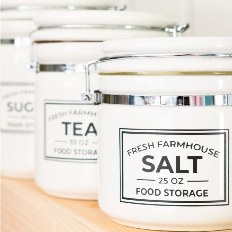 Free editable pantry labels for food storage and organization.