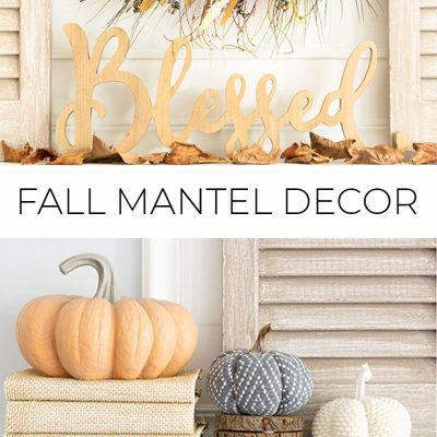 Fall Mantel Decorating Ideas With Neutral Colors And Textures