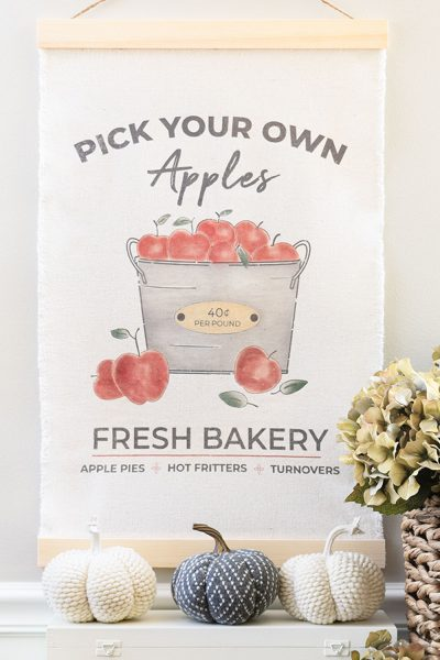 DIY Fall Apple Wall Tapestry