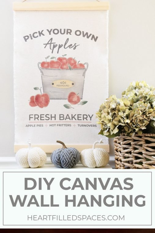 DIY Drop Cloth Wall Hanging