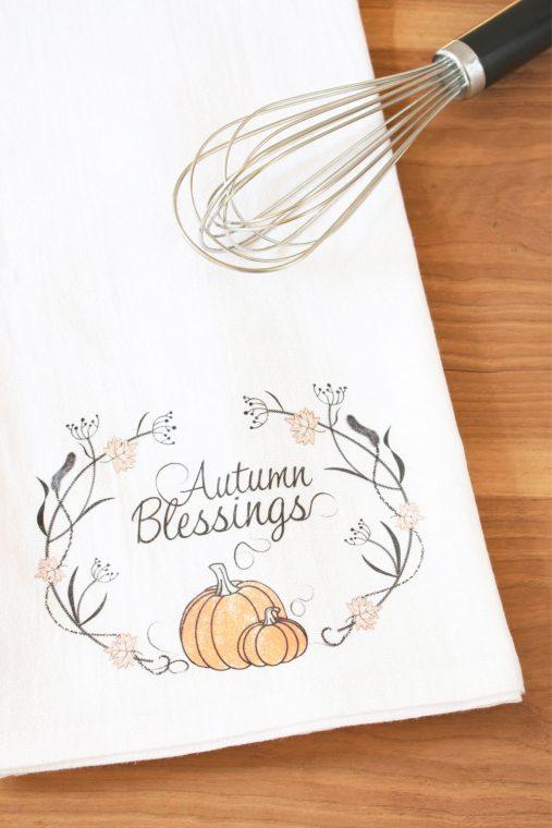 DIY Fall Tea Towels