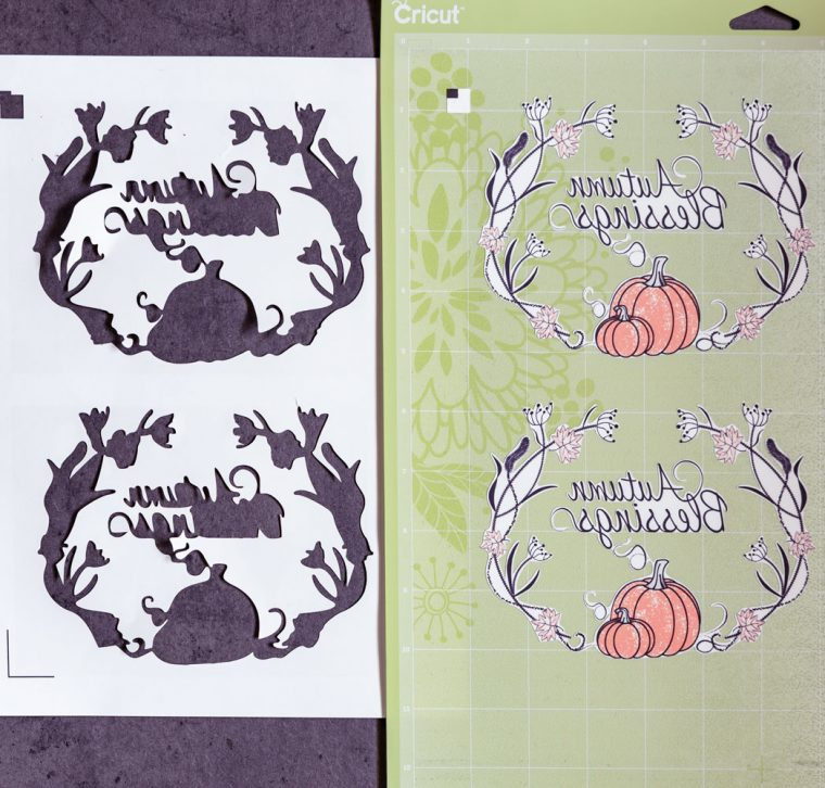 DIY Fall Tea Towel Cut File