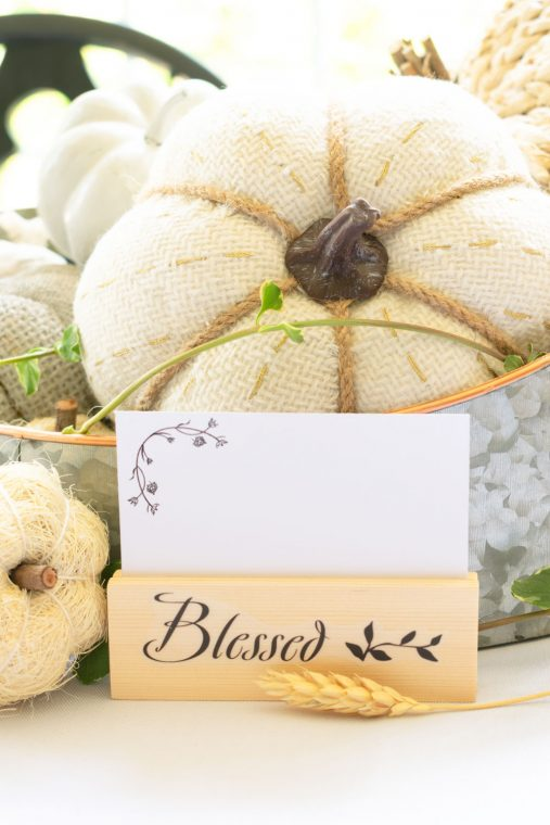 DIY Place Card Holders with free printable.