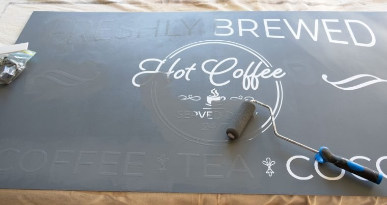 How to use vinyl to create a farmhouse coffee sign.