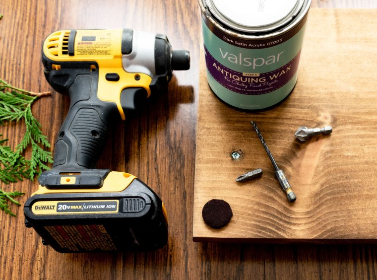 Tools to make a wood centerpiece for your table.