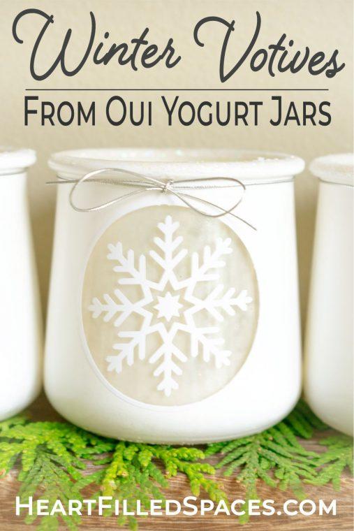 Beautiful Winter Snowflake Craft: DIY White  Winter Votives