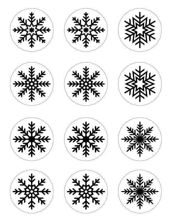 Free printable & cut file for winter votive craft.