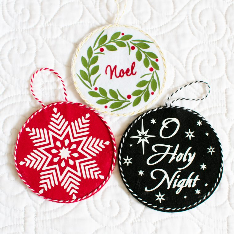 How to make no sew felt christmas ornaments with a gift card holder.
