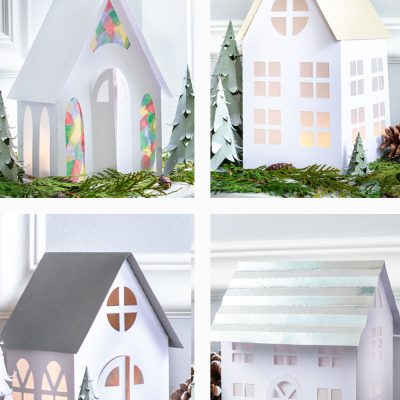 Christmas Village Houses: Paper Craft & Free Templates