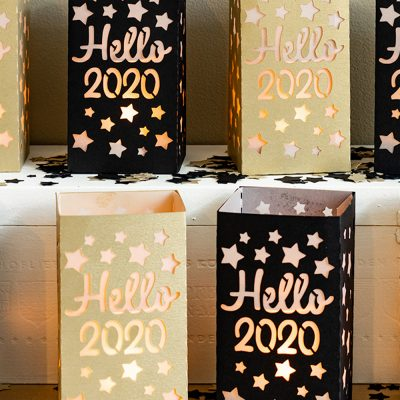 New Year's Decorations: DIY Paper Lantern Craft With Free SVG