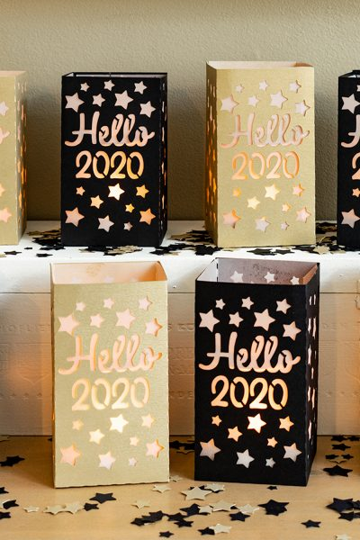 How to create paper lanterns for New Years decorations.