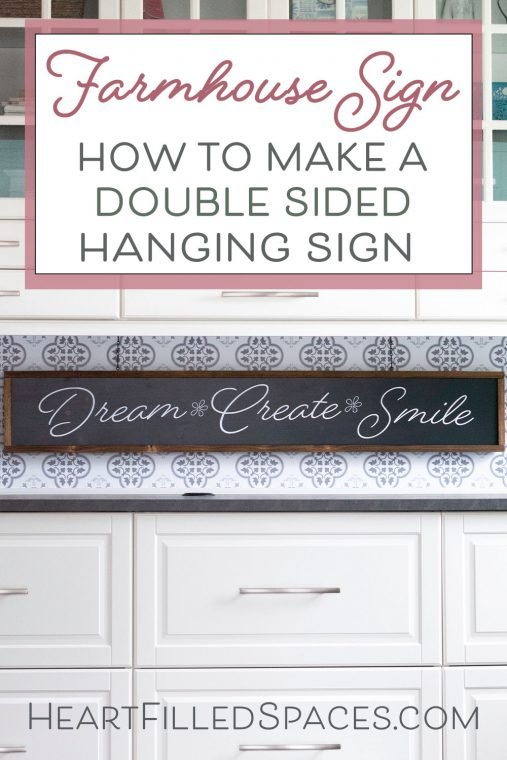 How to make a handmade, double sided framed wood sign.