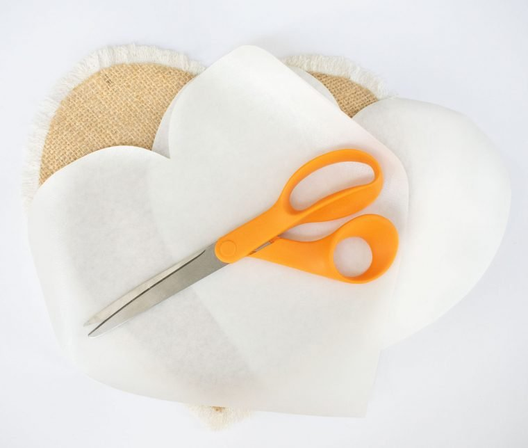 How to use Heat n' Bond to make a no-sew heart pillow.