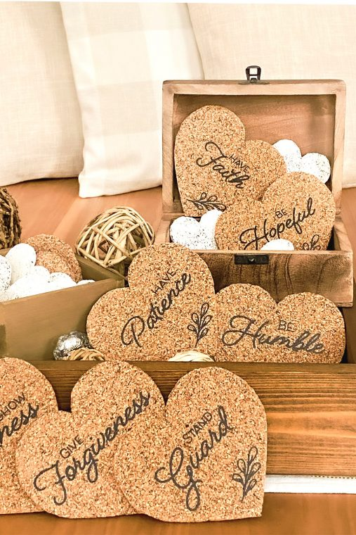 How to make a set of cork coasters for your home decor.