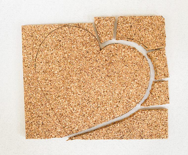 Step by step tutorial for making DIY cork coasters using heat transfer vinyl.