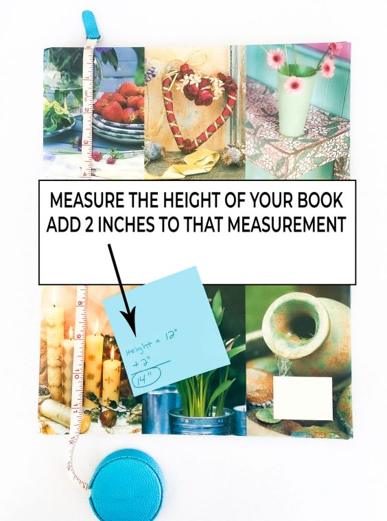 How to measure a book for removable fabric book covers.