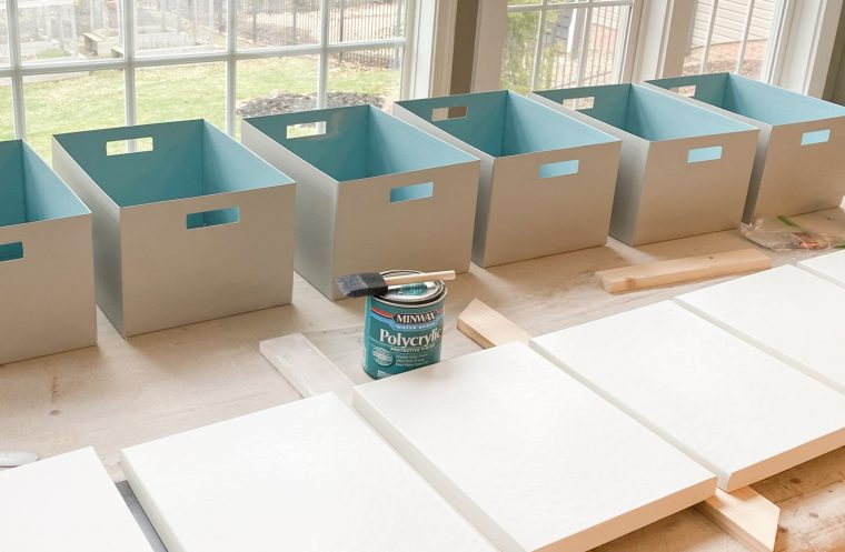 Storage Box Makeover with paint and decoupage.