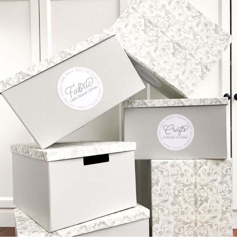 How to update storage boxes with paint and decoupage
