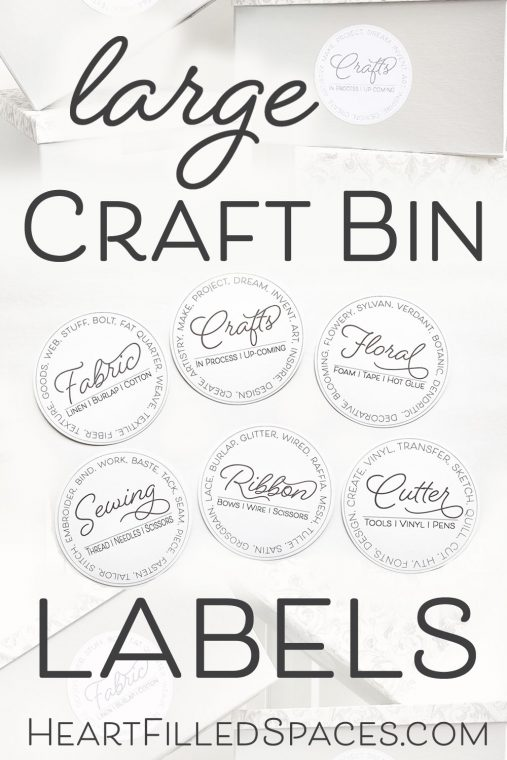 Free Craft Bin Labels for Storage Box Makeover