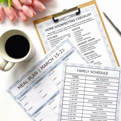 Editable Printable Templates: Schedule, Meal Plan & Cleaning Checklist