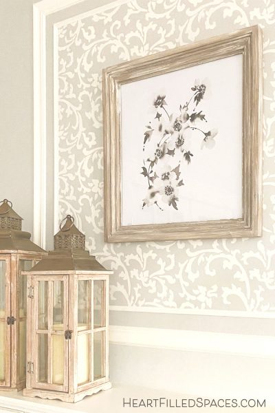 Beautifully update DIY Rustic Frames for your living room decor.