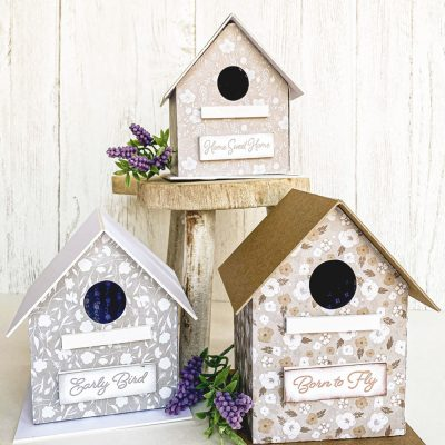 How To Make DIY Paper Birdhouses For Spring With Free Templates