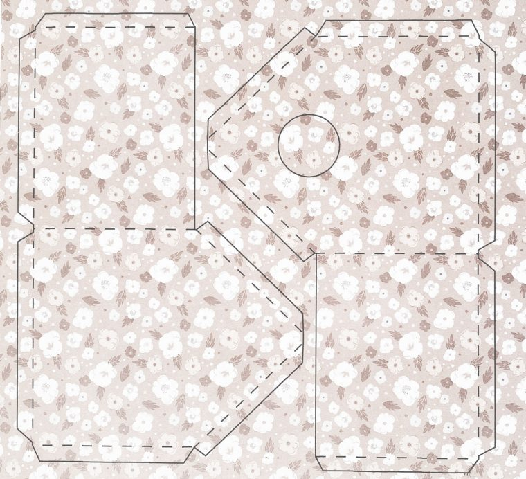 How to print the template on patterned paper.