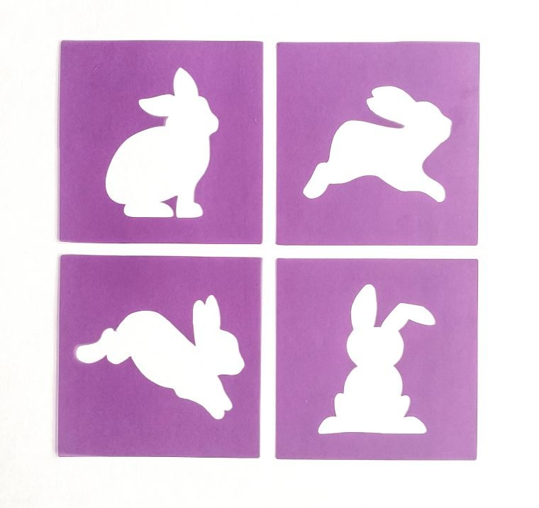 How to cut four bunny stencils with a silhouette cameo.