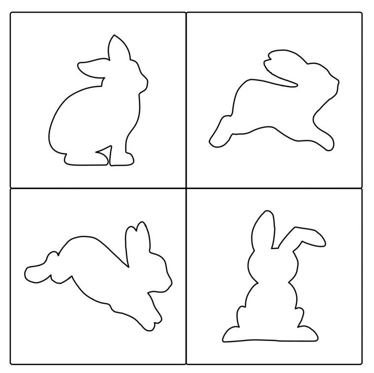 Free PDF templates and SVG files of bunnies for Easter.
