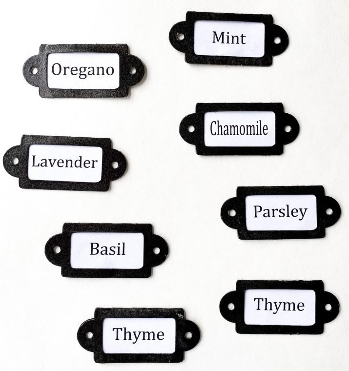 Free printable herb labels and SVG cut files.