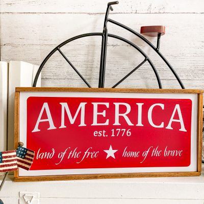 How To Make A Rustic Patriotic Wood Sign With Free SVG File