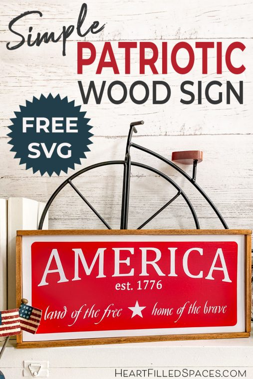 How to make a patriotic wood sign for Memorial Day or the Fourth of July.