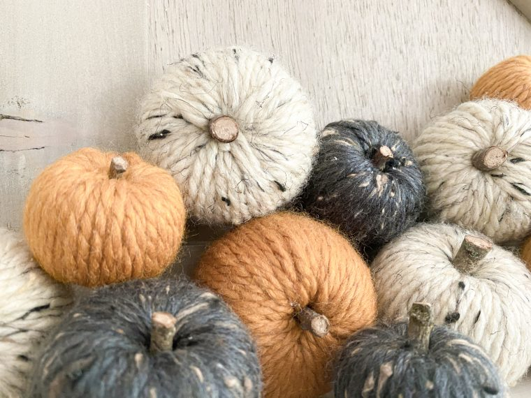 Cute pumpkin craft tutorial to create fall decor for your home.