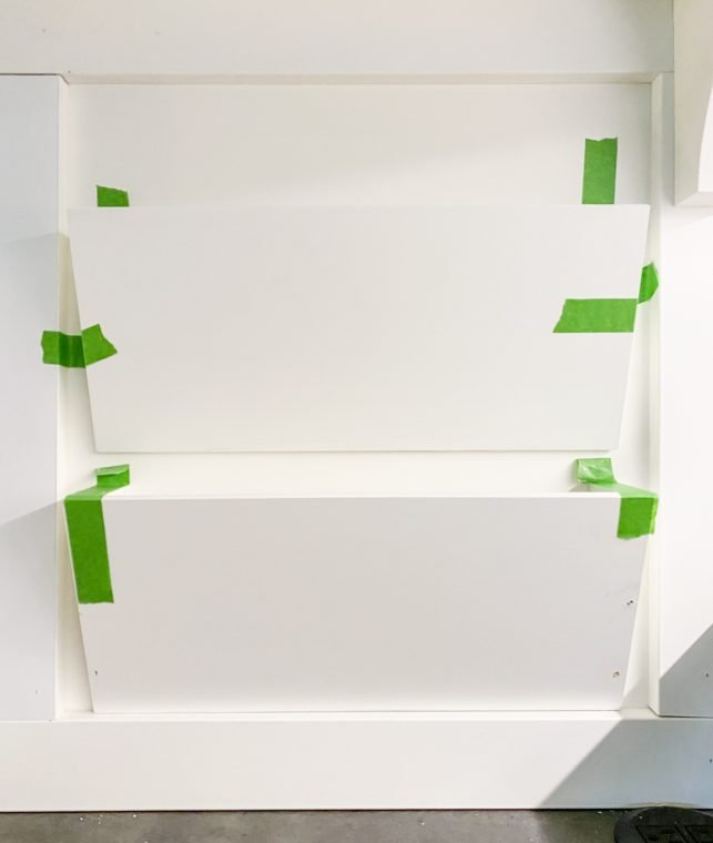 How to secure a built-in file organizer to the wall.