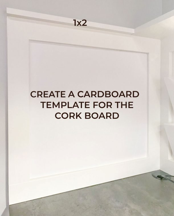 Create a cardboard template for a cork board.