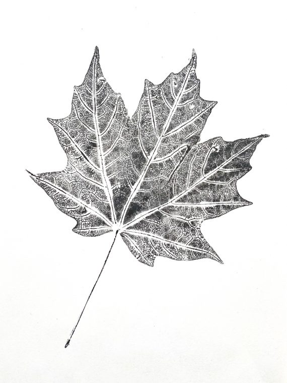 Leaf printing for fall.