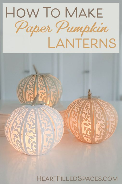 How to make paper pumpkin luminaries for fall.