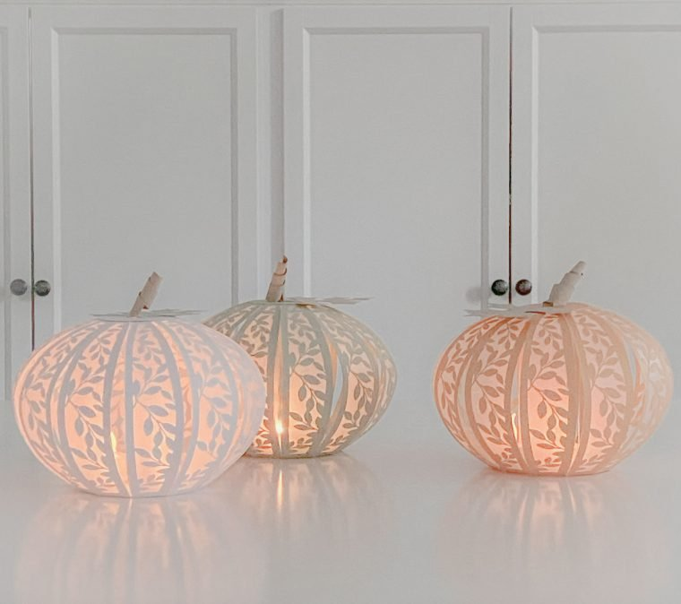 Pretty paper pumpkins for fall.