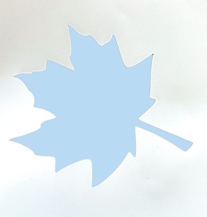 Use the outer part of the vinyl as a maple leaf stencil.