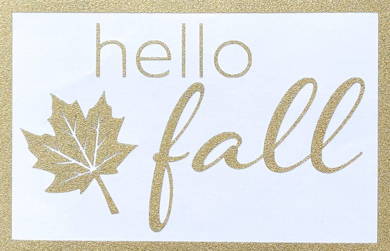 Free maple leaf clipart and hello fall SVG files for fall decorating.