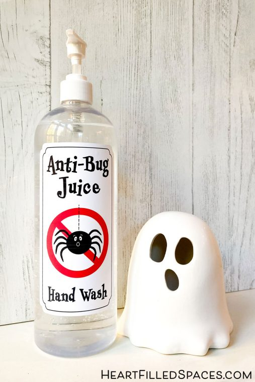 Creative Trick-or-Treating ideas and free printable labels for hand sanitizer and treat bags during Halloween.