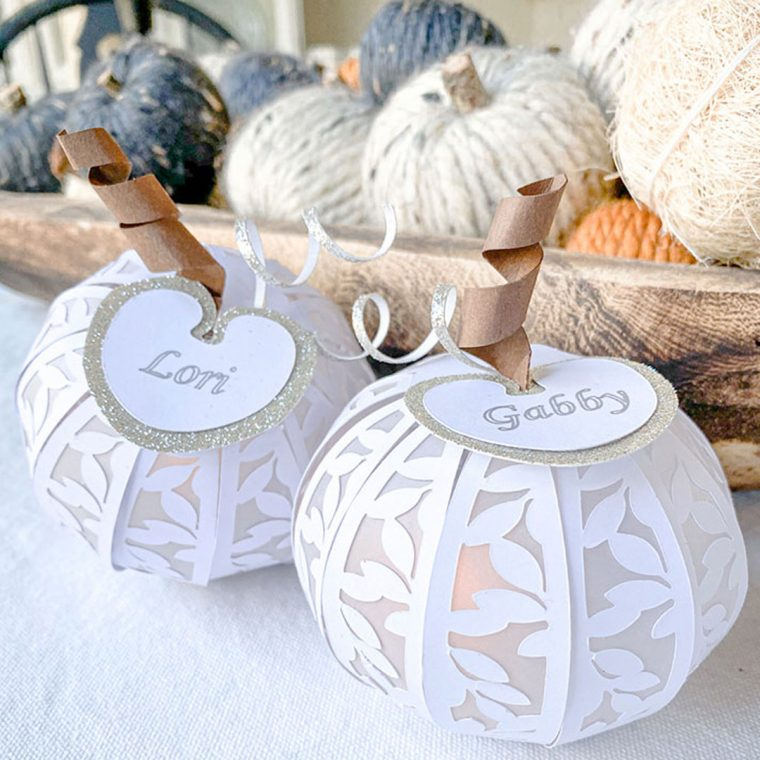 Thanksgiving Place Cards and Pumpkin Table Decor