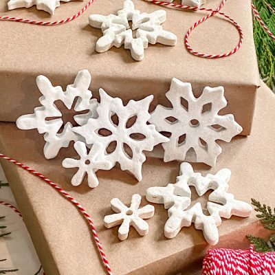 Salt Dough Ornaments: DIY Snowflake Christmas Decorations