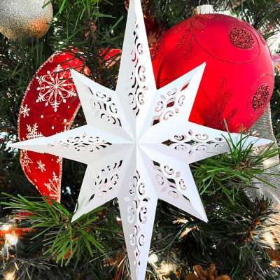 Easy Paper Christmas Star With Free SVG And PDF Templates