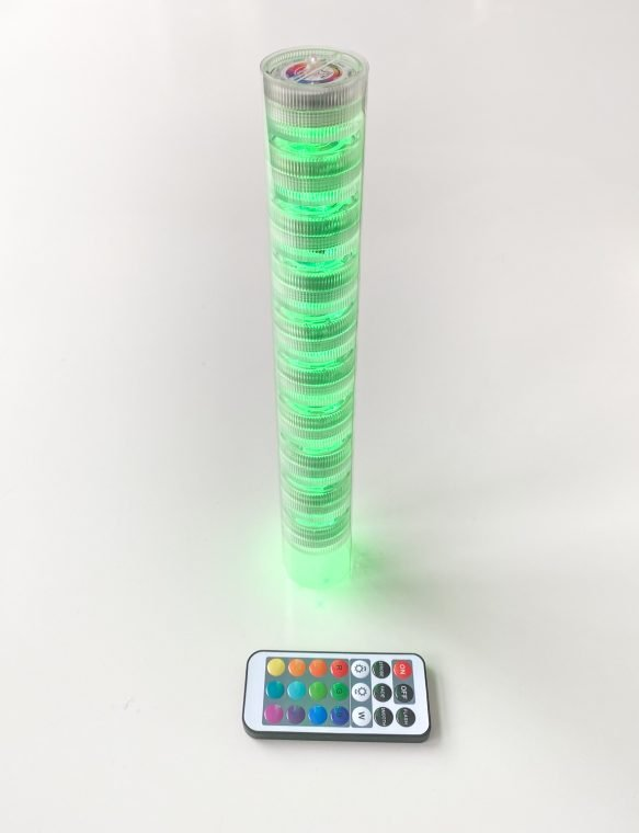 Create an LED light tube for hanging your New Year's Eve countdown ball craft.