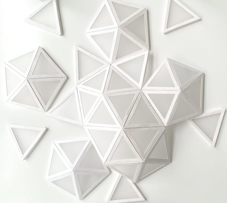 Assembling a card-stock and vellum dome.